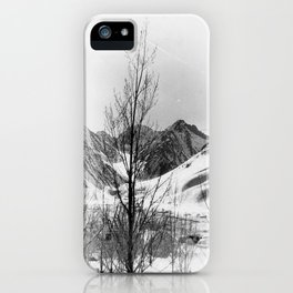 snow scene iPhone Case