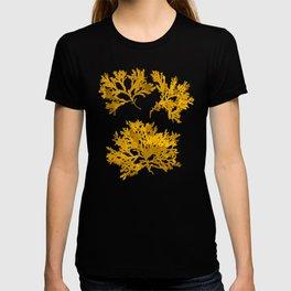 Ocre Seaweed Pattern T-shirt
