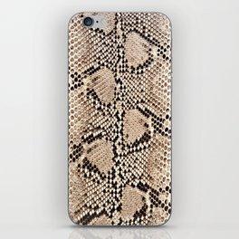 Snake skin art print iPhone Skin