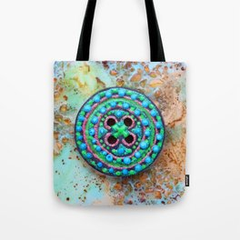 Button for happiness Tote Bag