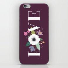 Floral Love - in Plum iPhone & iPod Skin