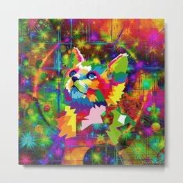 Surreal Cat Art Metal Print