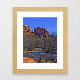 red rock stream Framed Art Print