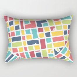 Lancaster, PA Block Map Rectangular Pillow
