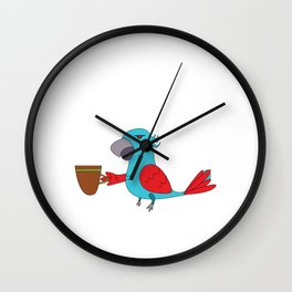 Used to be Noisy But Funny Talking Bird Tshirt Design Its too early Wall Clock