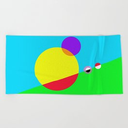 Circles #1 Abstract Modern Painting by Bruce Gray Beach Towel