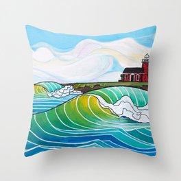 Steamer Lane Throw Pillow