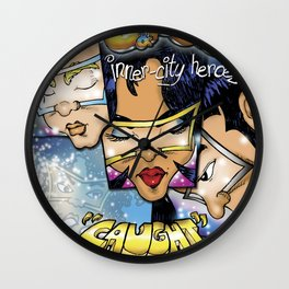 Caught in the Mix Cover Wall Clock