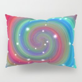 Colored Swirl in the Sky Pillow Sham