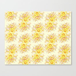 Faded Flowers Pattern Canvas Print