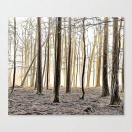 Autumn Forest Airbrush Artwork Canvas Print