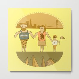west coast tourists in a burger Metal Print