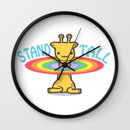 Stand Tall Cute Giraffes  Wall Clock