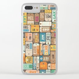 Luggage Tags Retro Clear iPhone Case