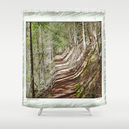 FOREST OF PARALLEL SHADOWS Shower Curtain