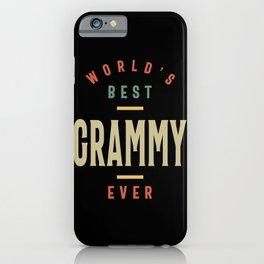 Womens Best Grammy Ever Grandma Gift iPhone Case