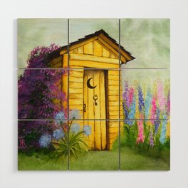 Out in Spring Wood Wall Art