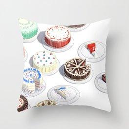 I Like Cakes Throw Pillow