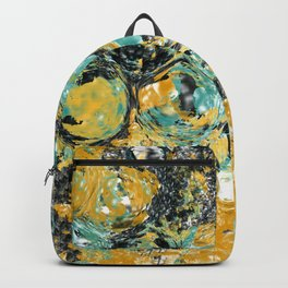 Copper and Turquoise Sea Bubbles Backpack