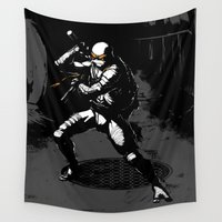 tmnt Wall Tapestries featuring TMNT Mikey by HoaDraws