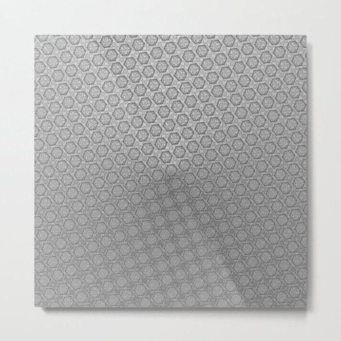 d20 Iron Weapon Critical Hit Pattern Metal Print