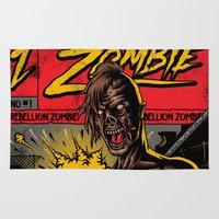 zombie Area & Throw Rugs featuring Zombie by Demones