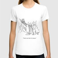 """lawyer T-shirts featuring """"One Hell Of A Lawyer"""" by Bill Abbott Business Cartoons"""
