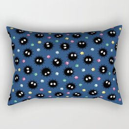 Soot Sprites (Dark Blue) Rectangular Pillow