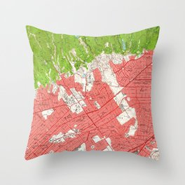 Vintage Map of Beverly Hills California (1950) 2 Throw Pillow