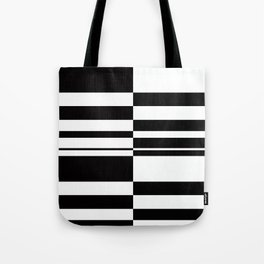 Abstract striped pattern. black and white . Tote Bag