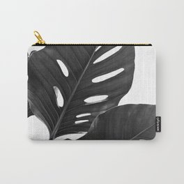 Monstera Black & White Vibes #1 #minimal #decor #art #society6 Carry-All Pouch