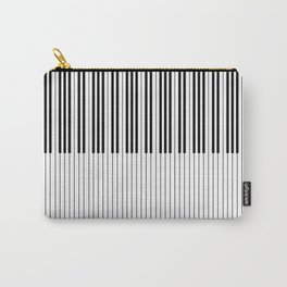 The Piano Black and White Keyboard Stripes with Vertical Stripes Carry-All Pouch