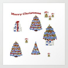 Merry Christmas Cape Cod Art Print