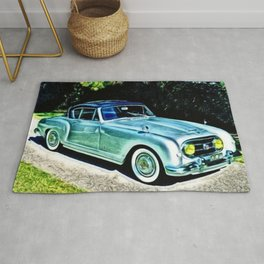 Vintage 1954 Nash Healey Lemans Sports Coupe Painting Rug