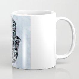 Watercolor Blue Pink Hamsa Hand Coffee Mug