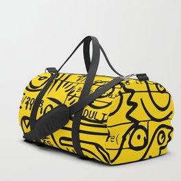 Yellow Street Art Graffiti Train Ticket Duffle Bag