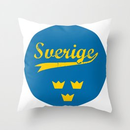 Sweden, Sverige, circle Throw Pillow