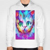 cheshire cat Hoodies featuring Cheshire Cat by Melanie Tassone Art