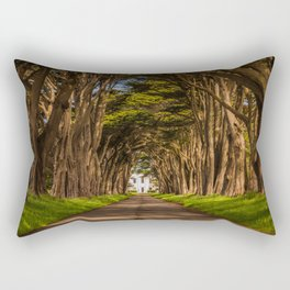 Cypress Tree Tunnel Rectangular Pillow