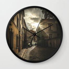 Cobble stone street Wall Clock