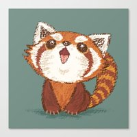 red panda Canvas Prints featuring Red panda by Toru Sanogawa