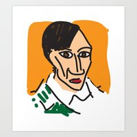 picasso Art Prints featuring Picasso by John Sailor