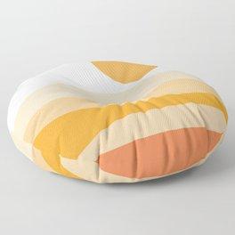 Abstract Landscape 09 Orange Floor Pillow