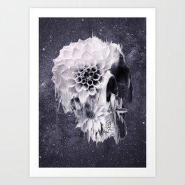 Decay Skull Art Print