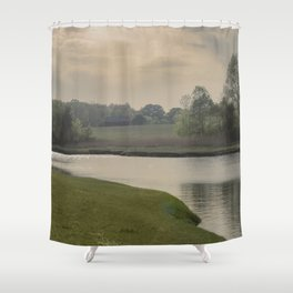 Hazy day on the Essex River Shower Curtain