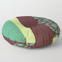 Tea and Leaves Floor Pillow