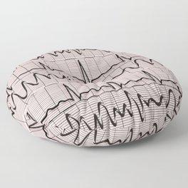 Cardiac Rhythm Strips EKG Floor Pillow