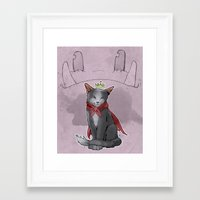 sith Framed Art Prints featuring Cait Sith by poopbird