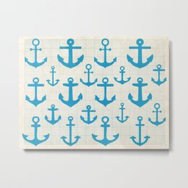 Anchor pattern Metal Print
