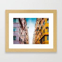 Residential aprtment in old district, Hong Kong Framed Art Print